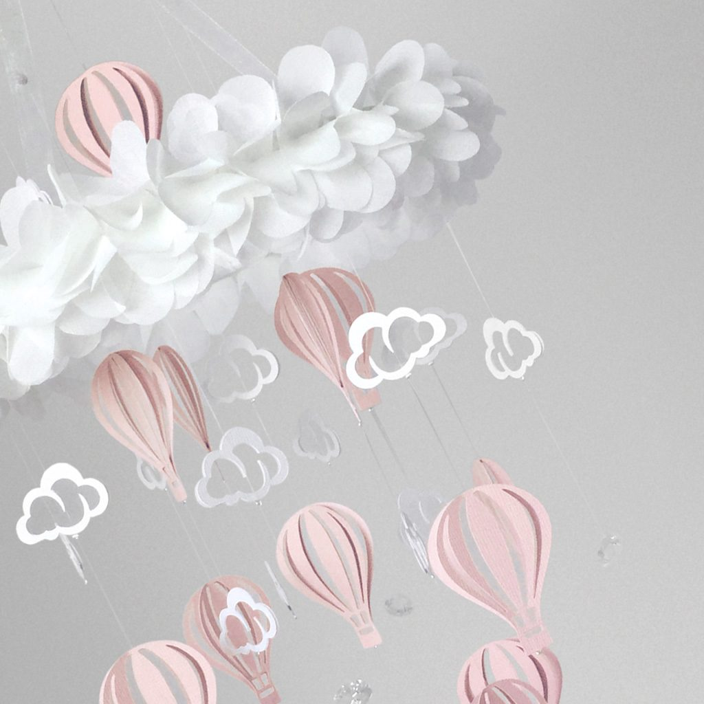 Baby Mobile Balloon Pink