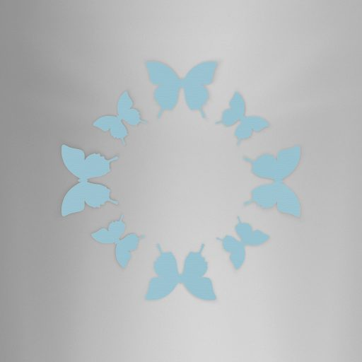 Wall Decor Basic Blue