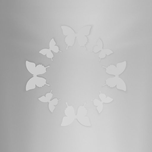 Wall Decor Butterfly Gray
