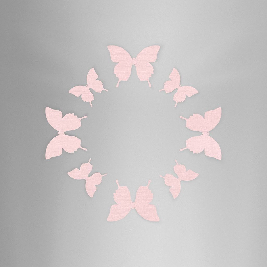 Wall Decor Butterfly Pink