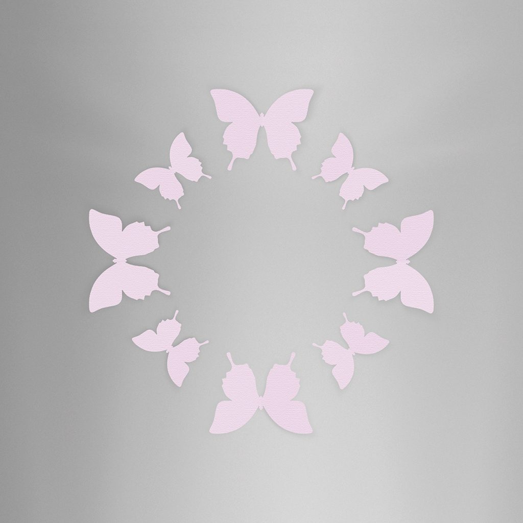 Wall Decor Butterfly Lavender