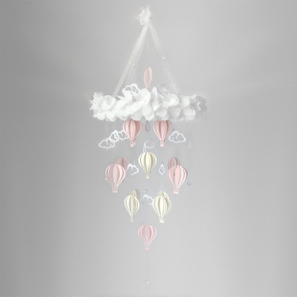 Baby Mobile Balloon Pink Champagne