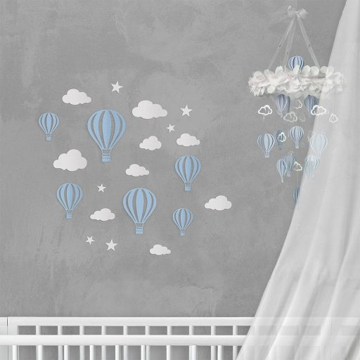 Wall Decor Balloon Blue