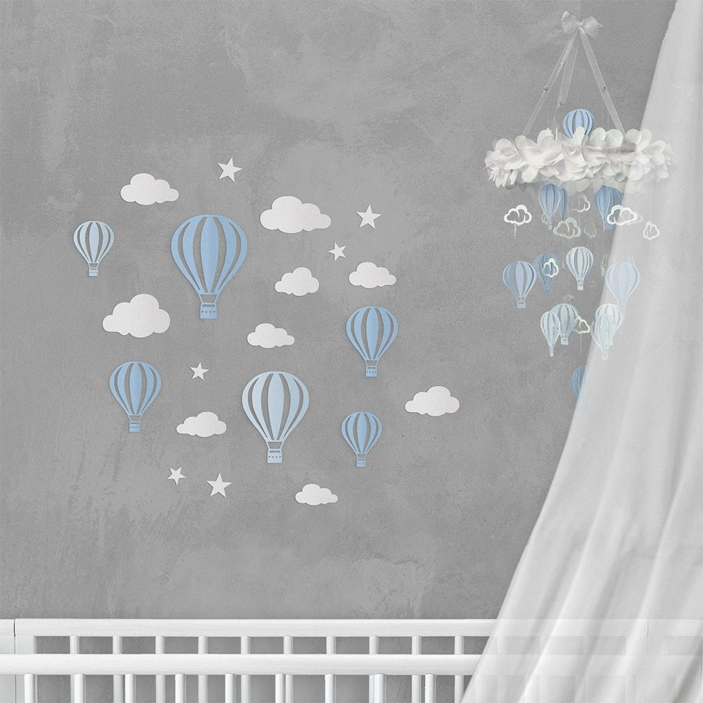 Wall Decor Balloon Blue Dream