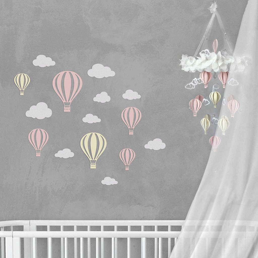 Wall Decor Balloon Pink Champagne
