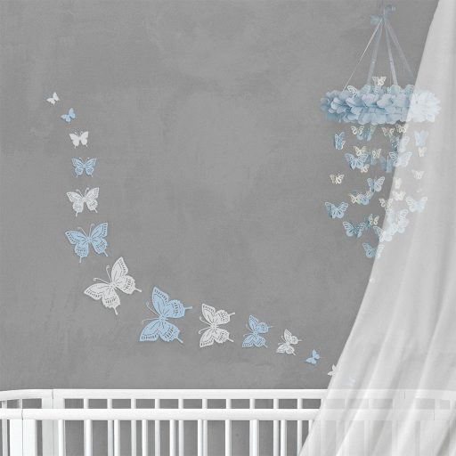 Wall Decor Butterfly Blue White